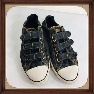 Converse Denim Velcro All Star Canvas Shoes Size12